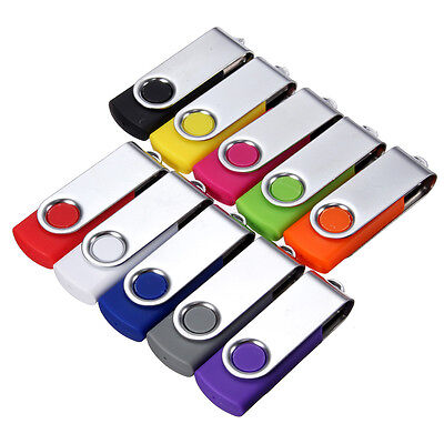 Swivel 1GB~128GB USB Flashing Memory Stick Pen Drive 2.0 Storage Thumb U Disk TR
