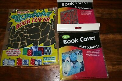 New Lot Of 3 Stretchable Fabric Book Covers