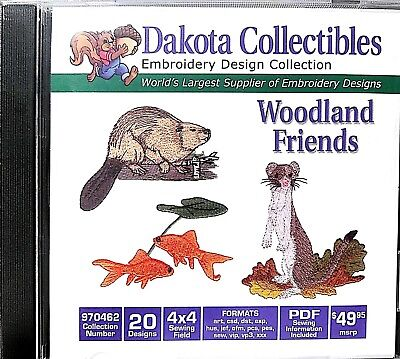 Dakota Collectibles 970462 Woodland Friends Multi Format Embroidery Designs CD