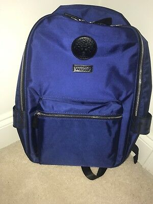 VERSACE NAVY BLUE Backpack Rucksack Gym Weekend Travel Bag -  91.00 ... b9eaafdc3307c