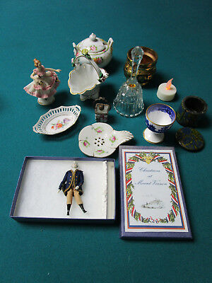 Mixed Lot 12 Pcs Ceramic And Metal [*glass13]