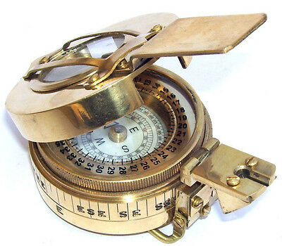 Brass Military Compass Nautical Pocket Compass Marine Collectible Xmas Gift.