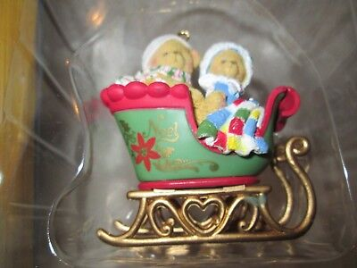 Enesco 1998 Cherished Teddies Sleigh Ride Christmas Ornament #406635 BOXED