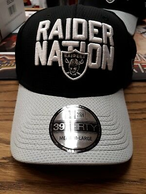 Oakland Raiders New Era 39Thirty Flex Fit 2018 Nfl Draft Official On Stage  Hat eeba0f4b2