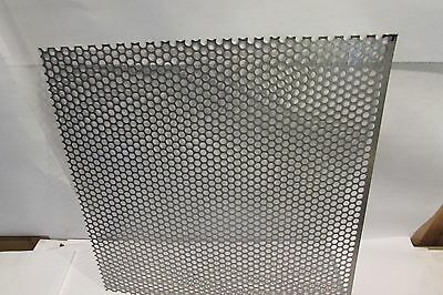"20 GA. 304 STAINLESS STEEL PERFORATED SHEET 1/4""HOLES ---4"" x 6"""