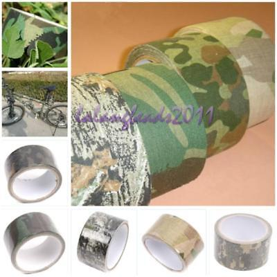 New Men Kombat Army Camo Wrap Rifle Hunting Camouflage Stealth Tape 5M x5CM 8C