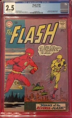 FLASH #139 CGC 2.5 GD+ Good 1963 1st Appearance PROFESSOR ZOOM Reverse-Flash