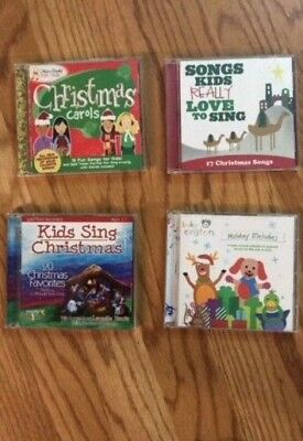 Lot of 4 Kid's Christmas Music CDs Baby Einstein Golden Books etc. Great Cond.