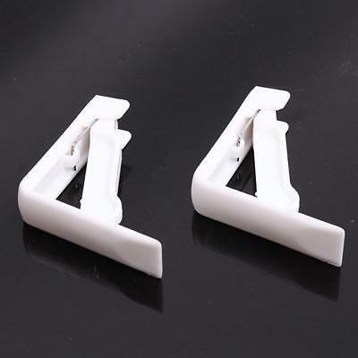 Durable 4pcs Portable Holder Spring Loaded White Tablecloth Clamp Clips New 8C