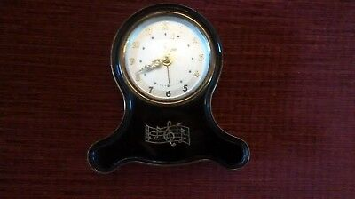 Vintage Emes musical alarm clock - plays Over the Waves