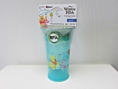 Disney Winnie the Pooh Spoutless 9 0z Baby Sippy Cup Sassy BPA Free 6 mos+ NEW