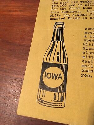 Iowa 1926 Manufacturers Of Carbonated Beverages Cedar Rapids Letterhead Paper