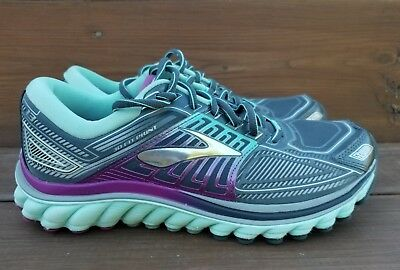 ff62d5668b422 Brooks Glycerin 13 Womens Size 8.5 Running Shoes Gray Blue Purple EUC Super  DNA