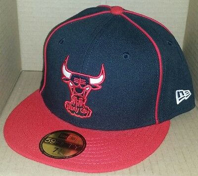 1127bf8db35 NWT NEW ERA Chicago BULLS Windy City 59FIFTY black size 7 3 8 fitted cap