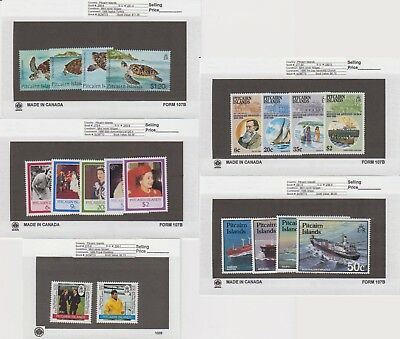 Pitcairn Is. - 1986 Commemorative Sets. Sc. #266-84. SG #281-99. Mint NH
