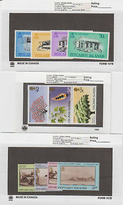 Pitcairn Is. - 1987 Commemorative Sets. Sc. #285-93. SG #301-11. Mint NH