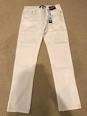 NWT Boy's LR Scoop Solid White Stretch Denim Classic Skinny Jeans ALL SIZES