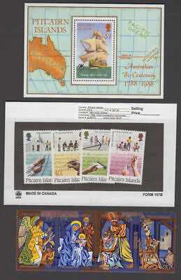 Pitcairn Is. - 1988 Commemorative Sets & S/S. Sc. #297//319. SG #314//3. Mint NH