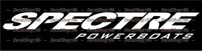 Spectre Boats -Outdoor Sports- Car/SUV/Truck Vinyl Die-Cut Peel N' Stick Decals