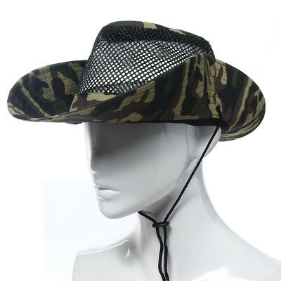Outdoor Sunshade Camouflage Polyester Cotton Headwear Fishing Bucket Hats  Cap 766f89d303eb