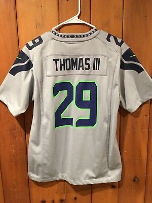 Nike Earl Thomas Seattle Seahawks Youth Large Gray Football  29 Jersey e779ce0c8f6b