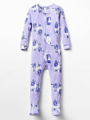 NWT Baby Gap Pet Pals Cat Dog 1PC Footed Pajamas 12-18 Months Baby Girl