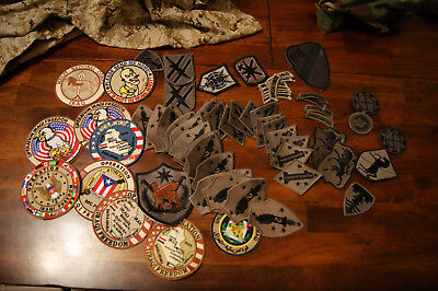 Lot of Theater Made Patches Iraq Afghanistan OEF OIF Army USMC Novelty