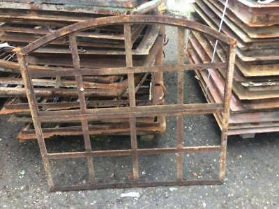 Vintage  Iron Arched Industrial Metal Window Frame 10 available