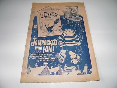 The Beano Comic - 1973 Flyer for Annuals RARE FREE UK POST