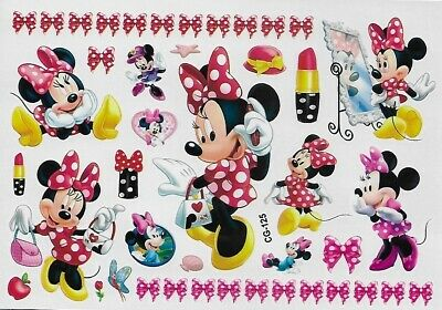 Minnie Mickey Maus Einmal Tattoos Temporary Tattoo Haut Kinder Body Sticker 2