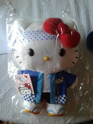 "Hello Kitty Sushi Chef AFC 30th Anniversary 10"" Plush Doll New Free Shipping"