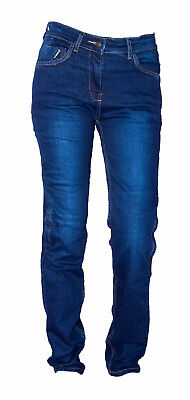 LADIES DRAGGING MOTORCYCLE JEANS PANTS REINFORCED WITH DuPont™ KEVLAR® BLUE WASH