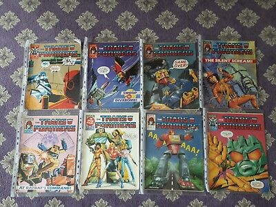 36 x Transformers Uk Comics 1986 To 88