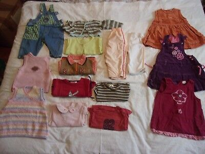 lot fille taille 12 mois 15 pieces