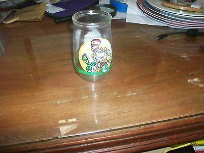 Vintage Welch's Jelly Glasses Cat in the Hat Grape Jam Jar  FF-1