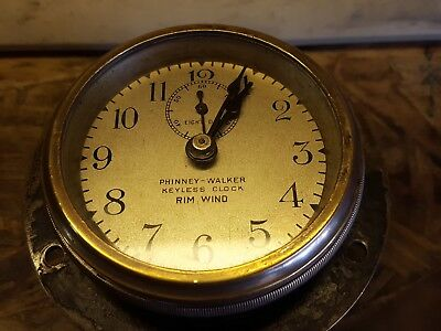 Phinney Walker Keyless Rim Wind Clock Ford Model T 1910