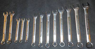 Craftsman (VTG USA) 6 Point/6-pt Combination Wrench - Choice SAE or Metric Sizes
