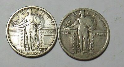 1917 1919 Standing Liberty Quarters