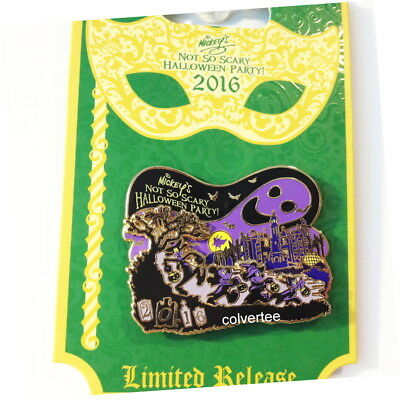 Disney Pin  Mickey`s not so Scary Halloween Party LR New on Card
