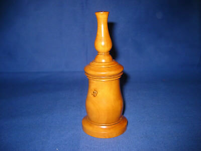 Antique c1850 Victorian Treen Turned Boxwood Glove Talc Powtered
