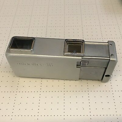 Vintage Minolta 16 II Subminiature Spy Camera 16mm With f/28 Rokkor Lens Flash A