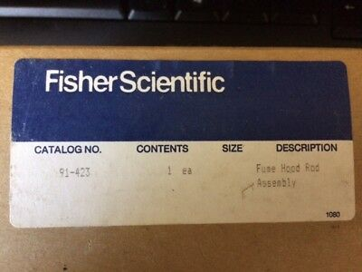 !New! Fisher Scientific fume hood rod assembly Catalog No: 91-423