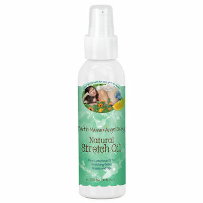 Earth Mama Angel Baby Natural Stretch Oil, 4 Oz. Organic Body Oil