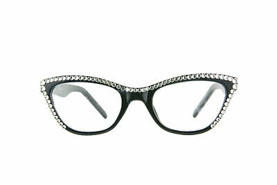 0ae43a7fab6 CAT-EYE READING GLASSES made with Swarovski Crystals -  22.99
