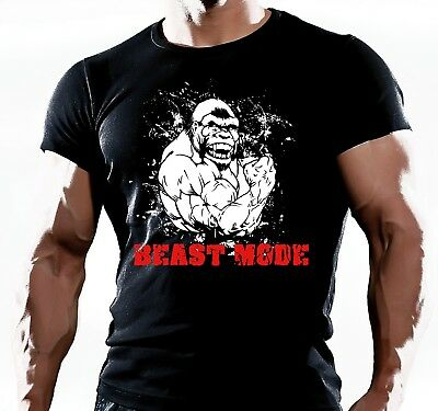 Mens Gym T-Shirt Mma Bodybuilding Motivation Training Workout Fighting Clothing