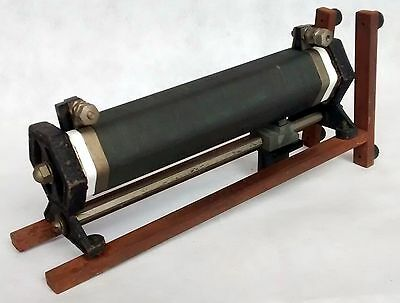 VINTAGE SLIDING RHEOSTAT 28.2 OHMS 4 AMPS MOUNTED - UK PHYSICS LAB 1940s /08