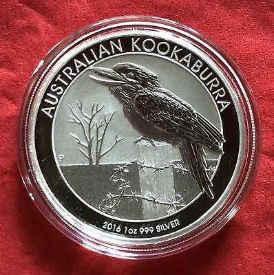 1 Troy Oz 999 Silver 2016 Australia Kookaburra Perth Mint One Dollar (2)