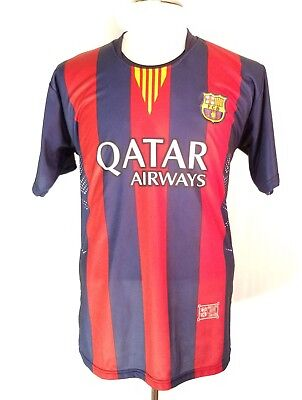 5f203e86a ... new zealand 2014 fc barcelona champions league home jersey shirt l  large number 10 messi g26 ...