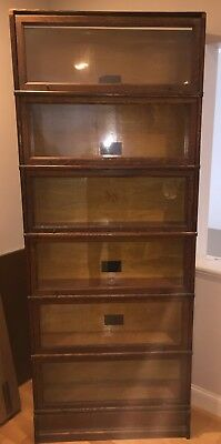 Unique Antique MACEY Model 2B 6 STACK with Base BARRISTER BOOKCASE