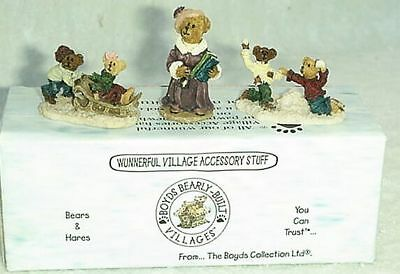 Nib Boyds Bear Wunnerful Village Accessory Bearly School 19504 2 Retired 2000